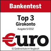 1822direkt - Testsiegel Girokonto TOP3 2012
